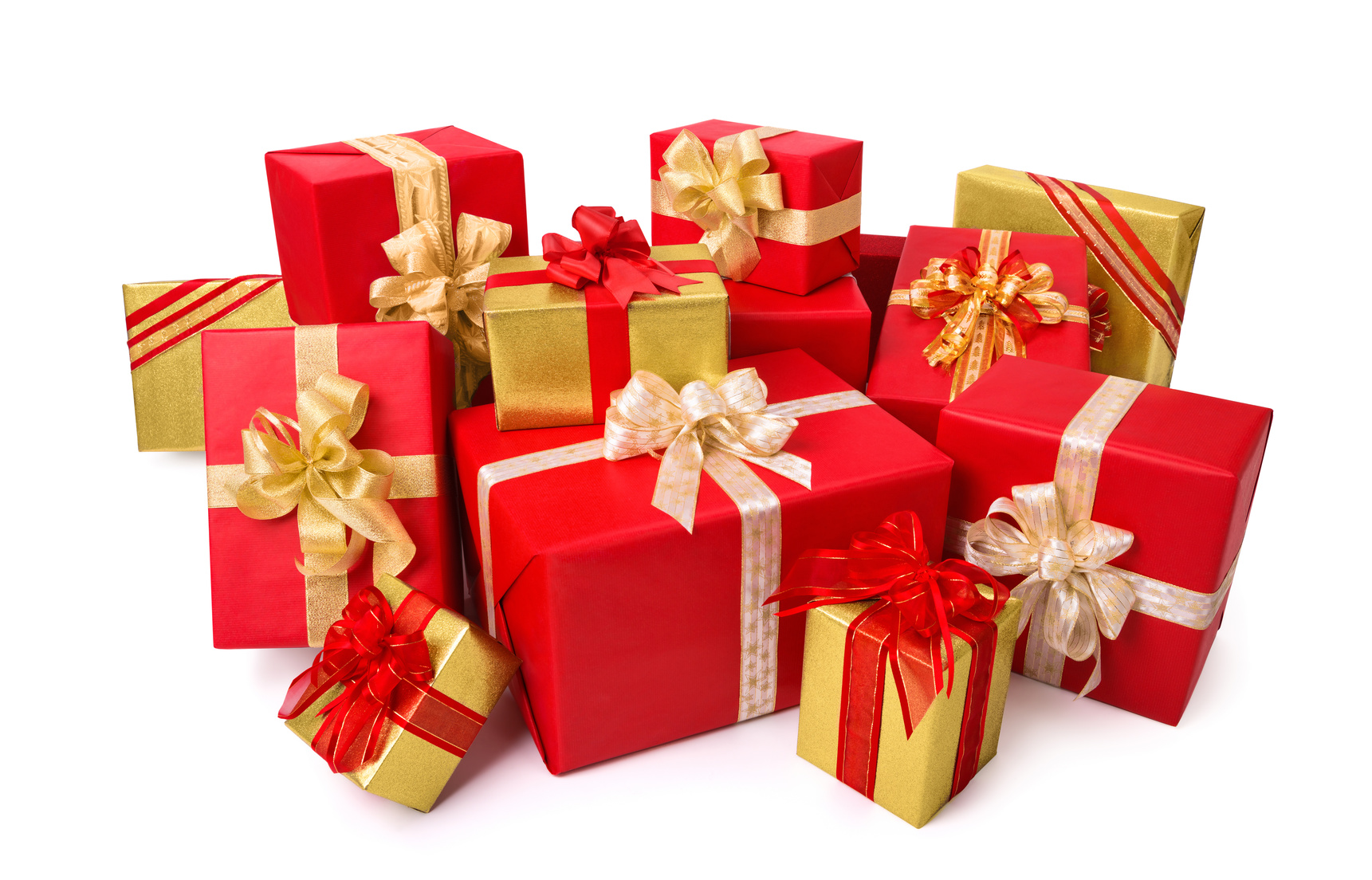 Schicke Geschenkpackungen in Rot und Gold
